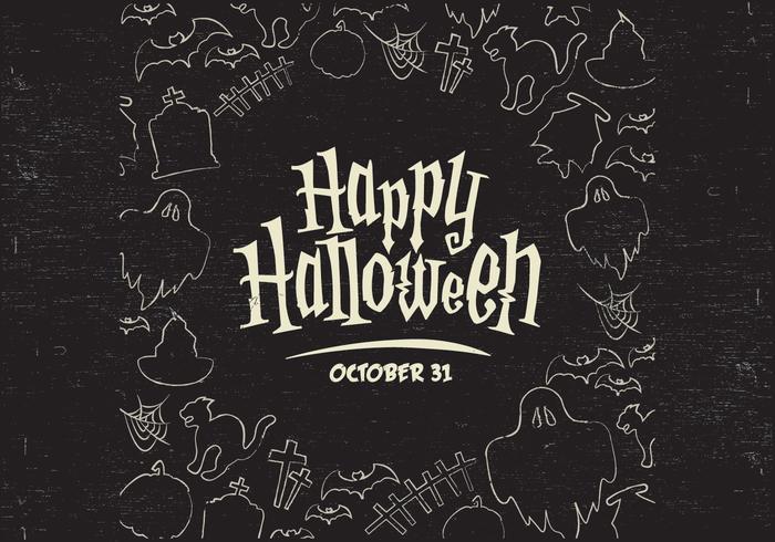 Vecteur de bordure de Halloween