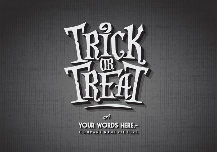 Vecteur Trick-Or-Treat d'horreur classique