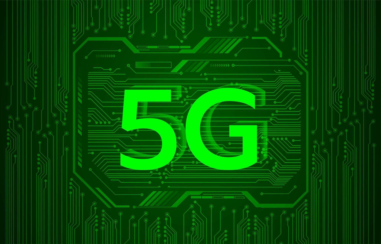 Fond de technologie future du cyber circuit 5g vecteur