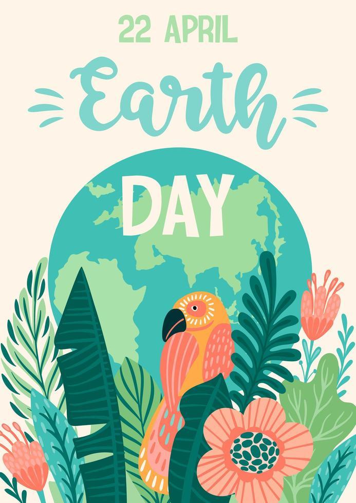affiche du jour de la terre sauver la nature vecteur