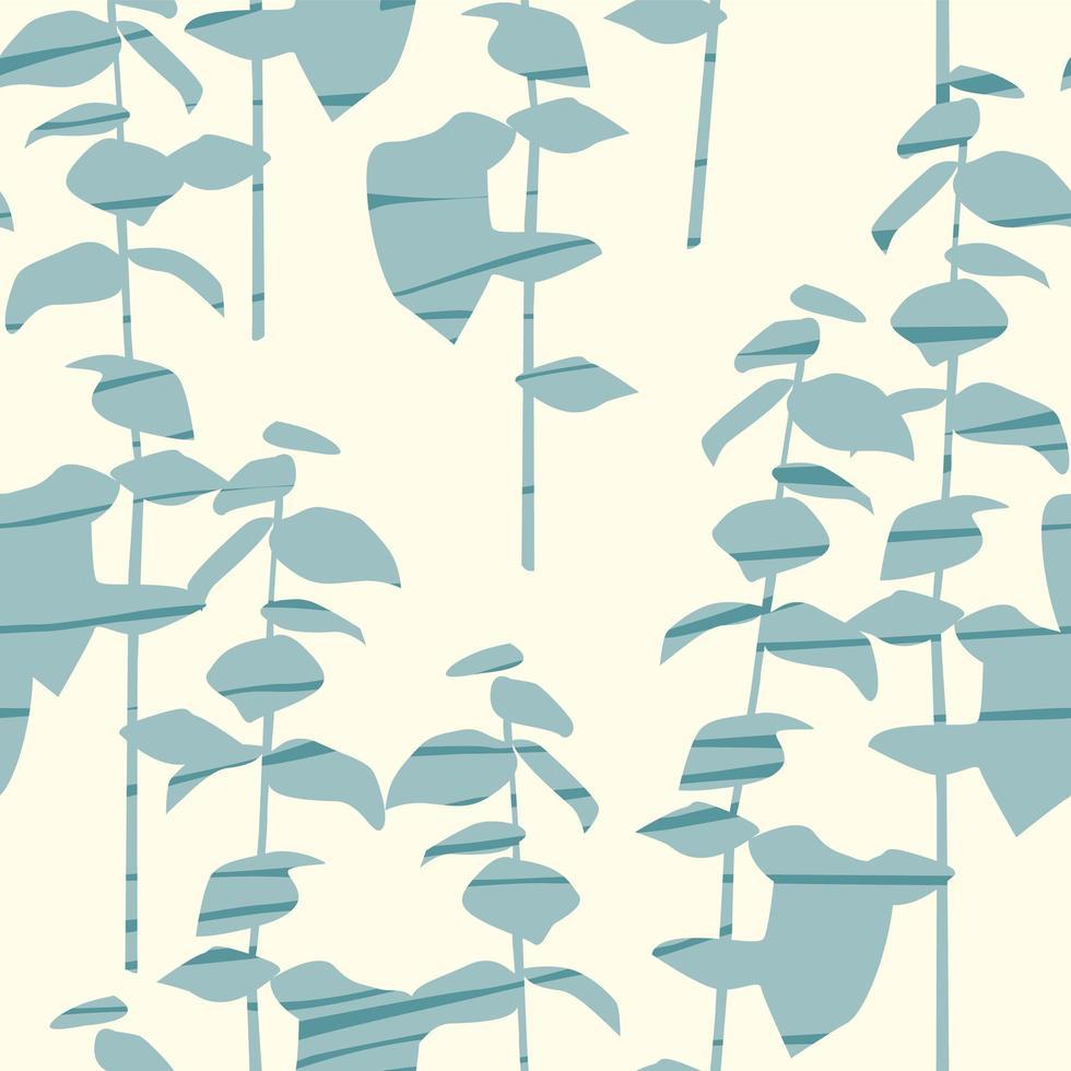 modèle sans couture artistique avec des feuilles abstraites vecteur
