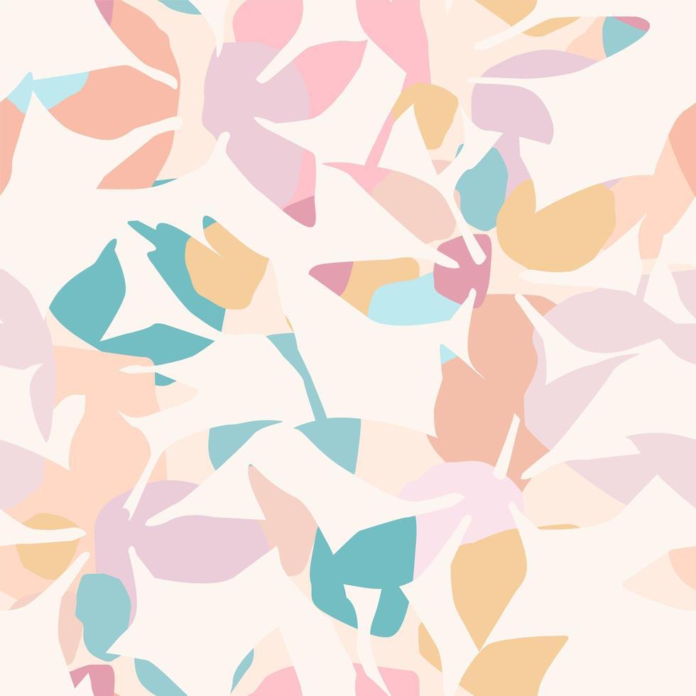 modèle sans couture artistique avec fleurs abstraites vecteur