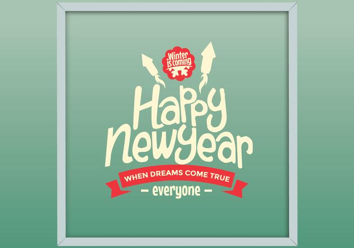 Encadré Happy New Year Vector
