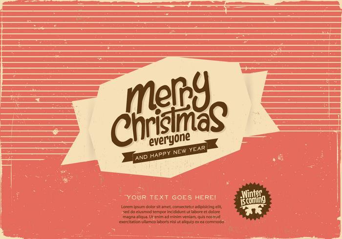 Vecteur étiquette de Noël joyeux rayé