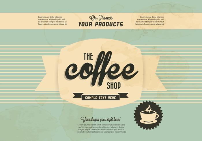 Logo de la coupe de café vecteur