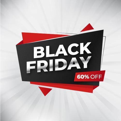 bannière de vente de forme géométrique vendredi noir vecteur
