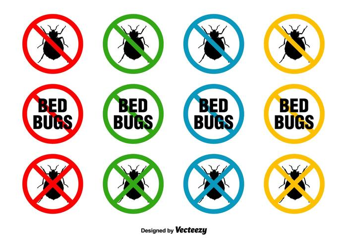 Signes vectoriels des insectes du lit vecteur