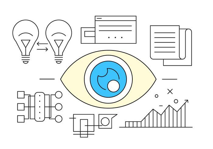 Icône d'oeil gratuit pour les entreprises vecteur