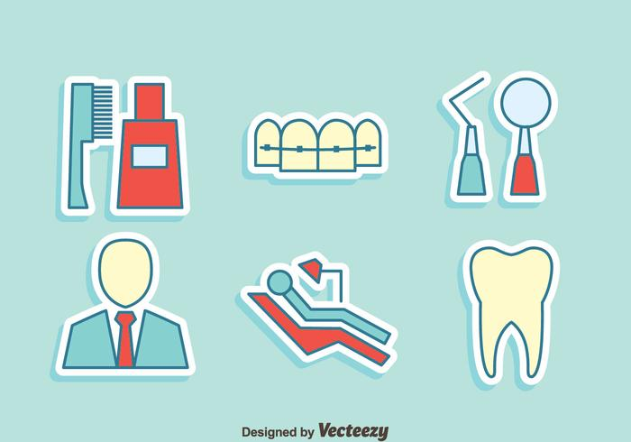 Dentiste Element Vector Icons