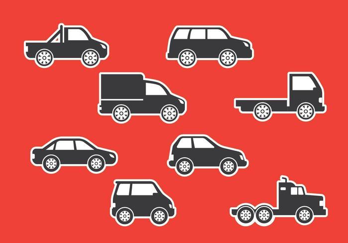 Icônes de corps automobile vecteur