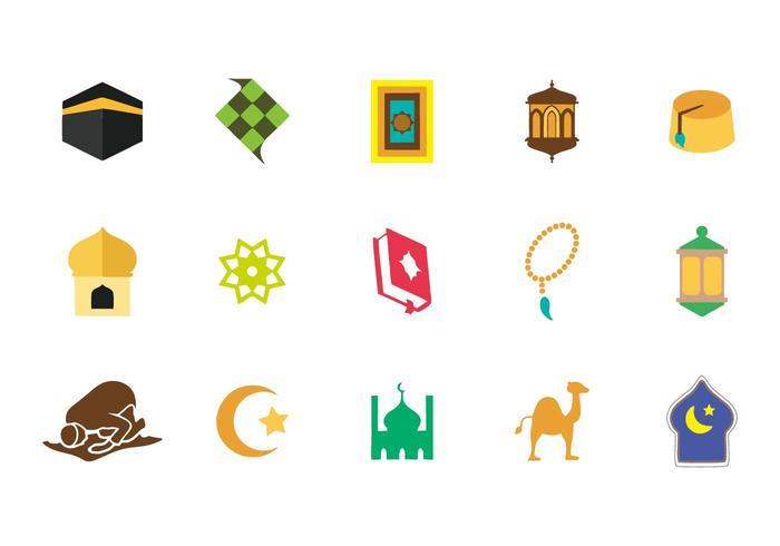 Icônes islamiques vecteur libre