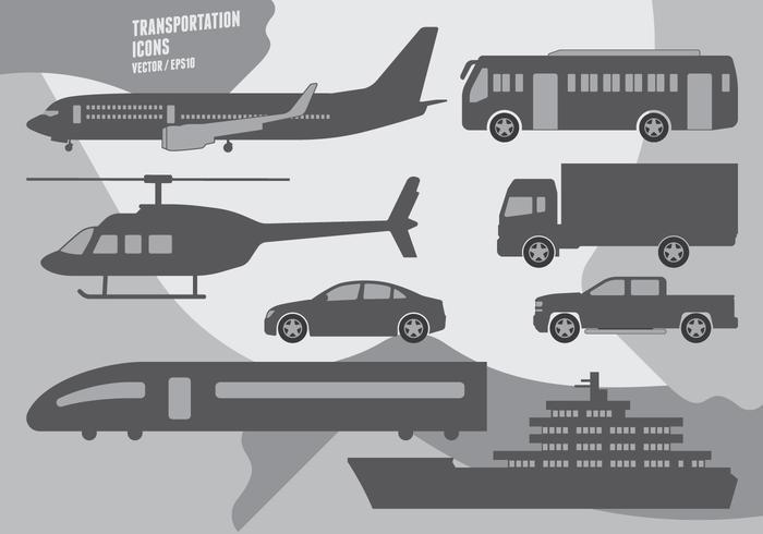 transport Icons vecteur