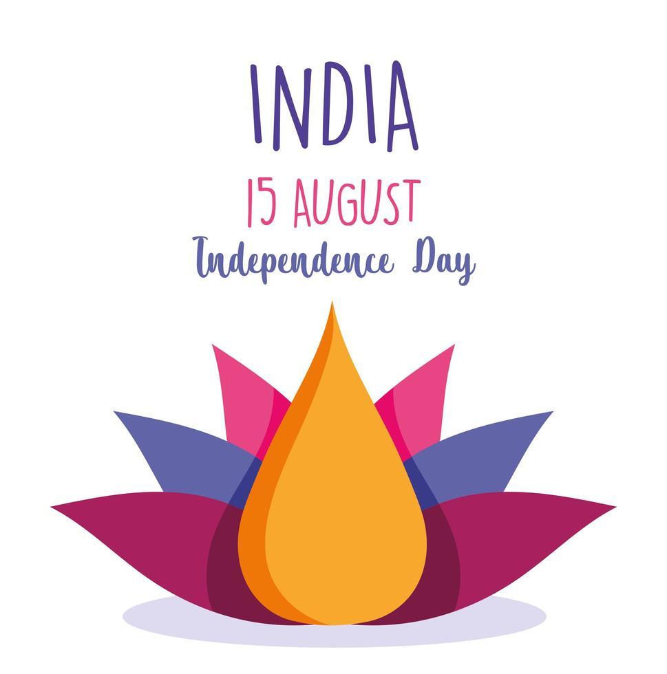 conception de la fête de l'indépendance de l'inde vecteur