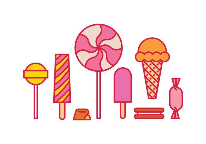 sweet icônes vecteur