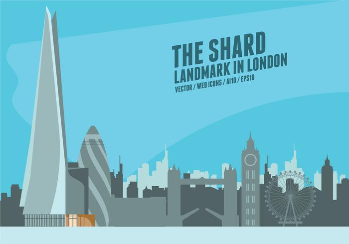 Le Shards Londres vecteur