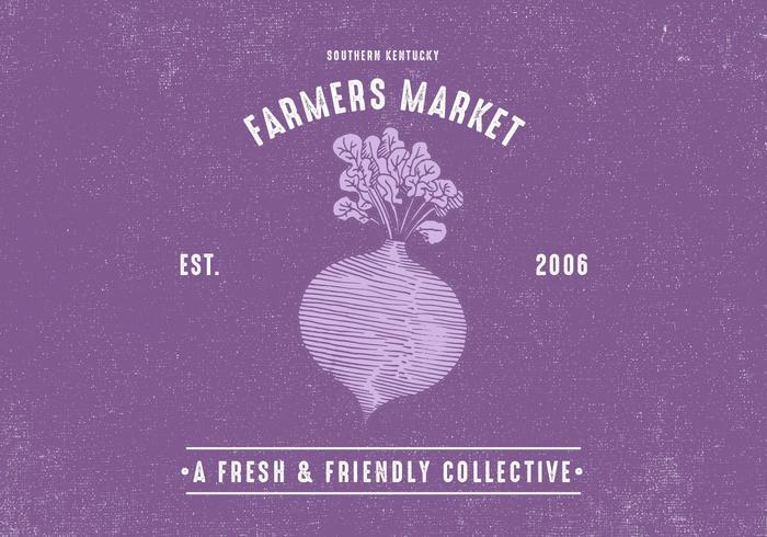Retro Farmers Market Conception vecteur