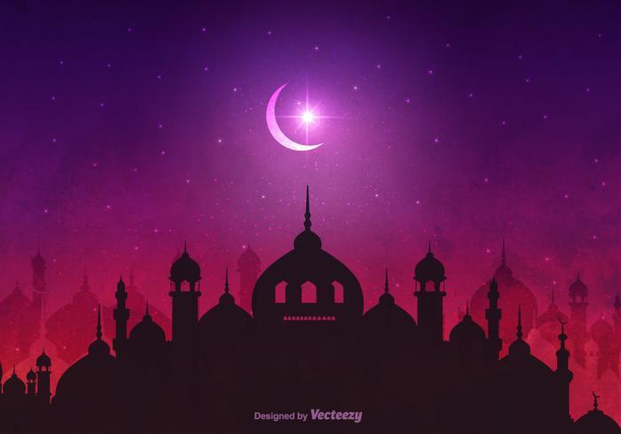 Vecteur fond de nuit arabe