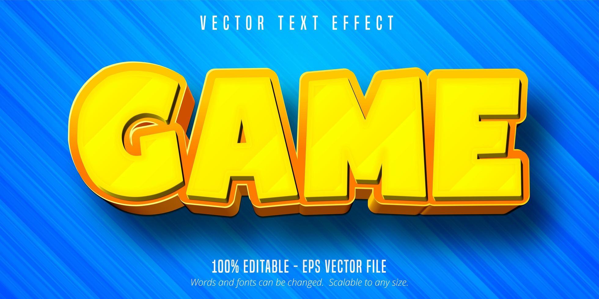 effet de texte modifiable de style dessin animé de jeu vecteur