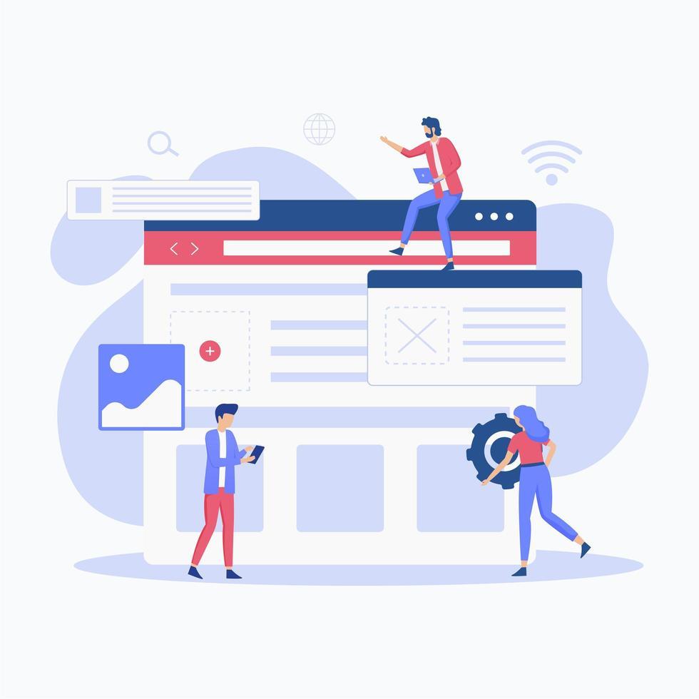 concept de configuration de site Web vecteur