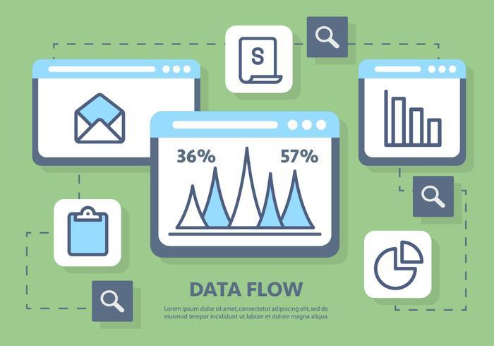 Illustration vectorielle de marketing numérique vecteur