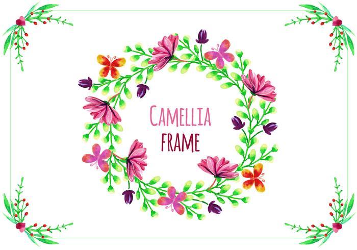 Gratuit Frame Vecteur avec Camélias