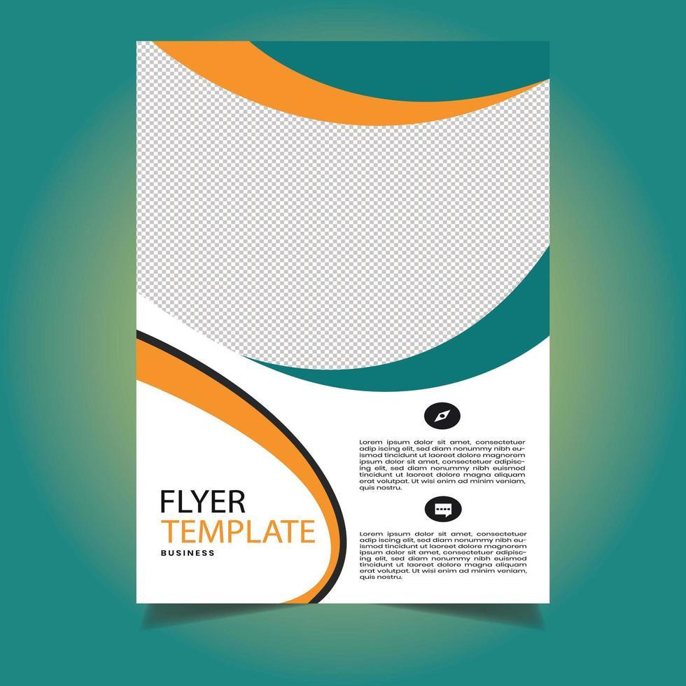 modèle de flyer corporatif orange et vert pour le bureau vecteur