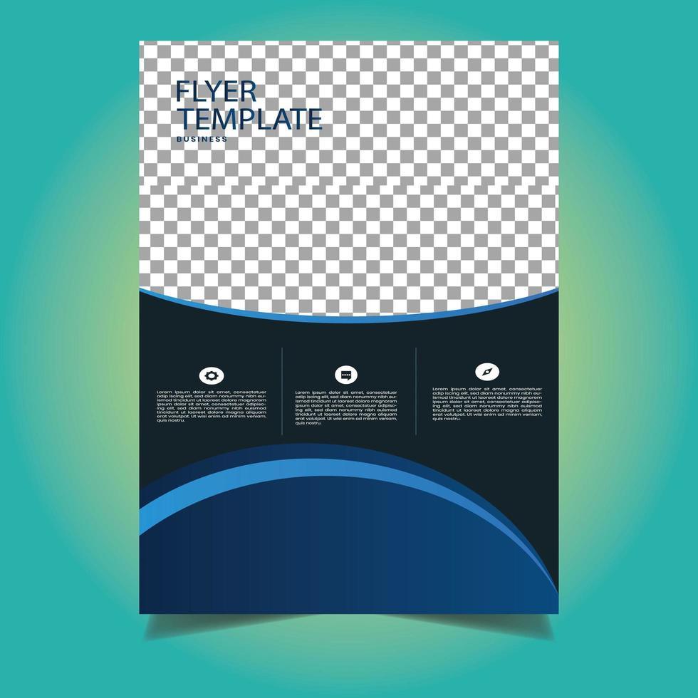 conception de modèle de flyer professionnel gris et bleu vecteur
