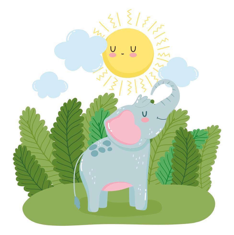 petit éléphant dans la nature vecteur