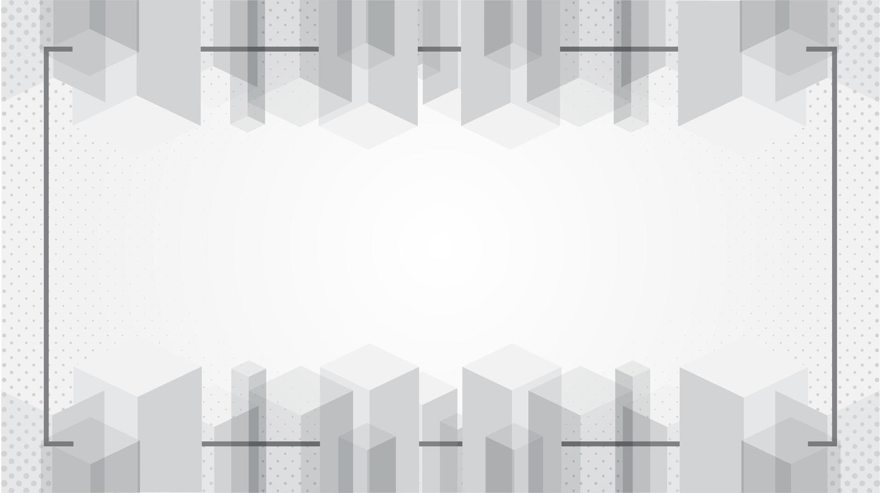 fond d'écran abstrait texture moderne blanc avec cadre vecteur