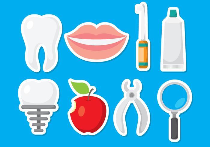 Icônes de dentiste amusantes vecteur