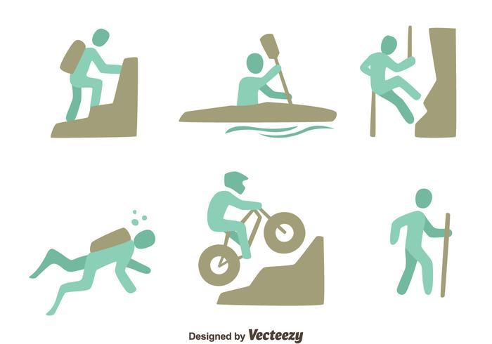 Sets Sports extrêmes Vector