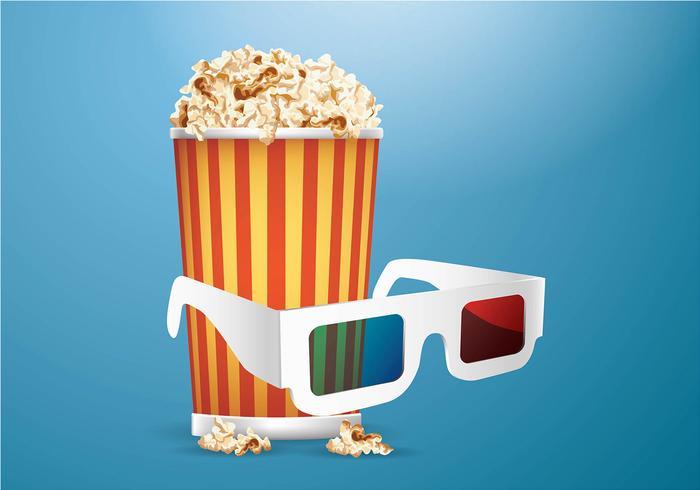 3D Movie Experience Vector