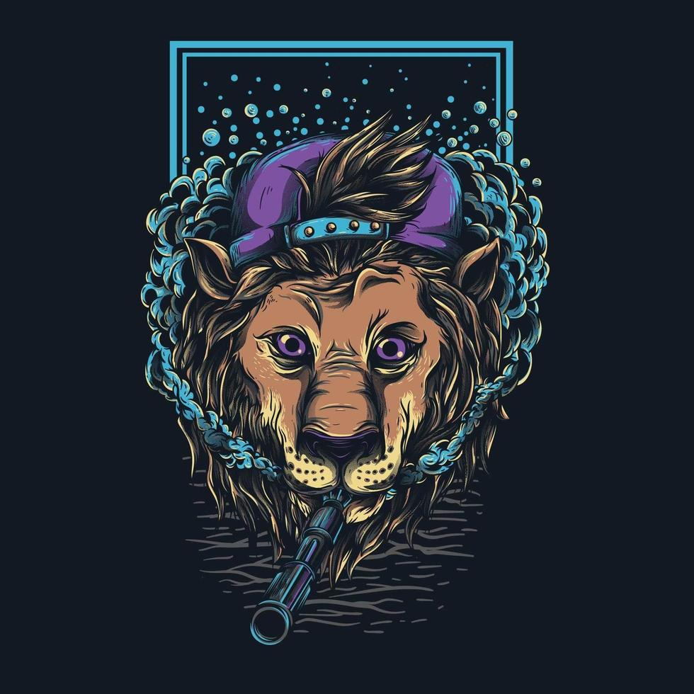 conception de tshirt lion swag vecteur
