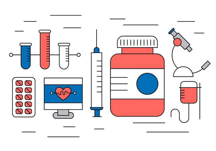 Icônes médicales gratuites vecteur
