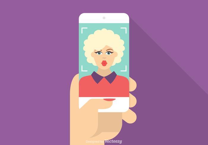 Vecteur libre Prendre selfie Illustration