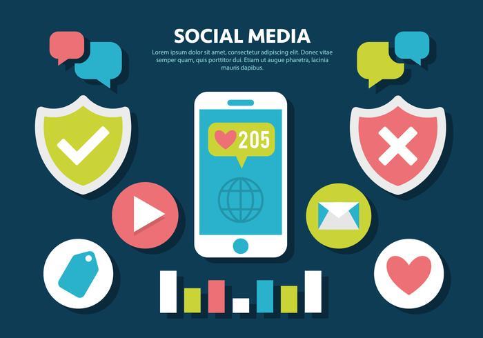 Gratuit Social Media Vector Illustration