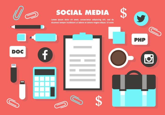 Free Media Social Vector Elements