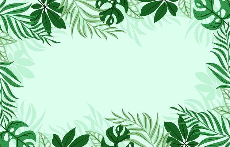 fond de feuilles vertes tropicales vecteur