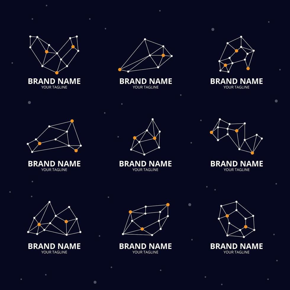 logo de ligne abstraite vecteur