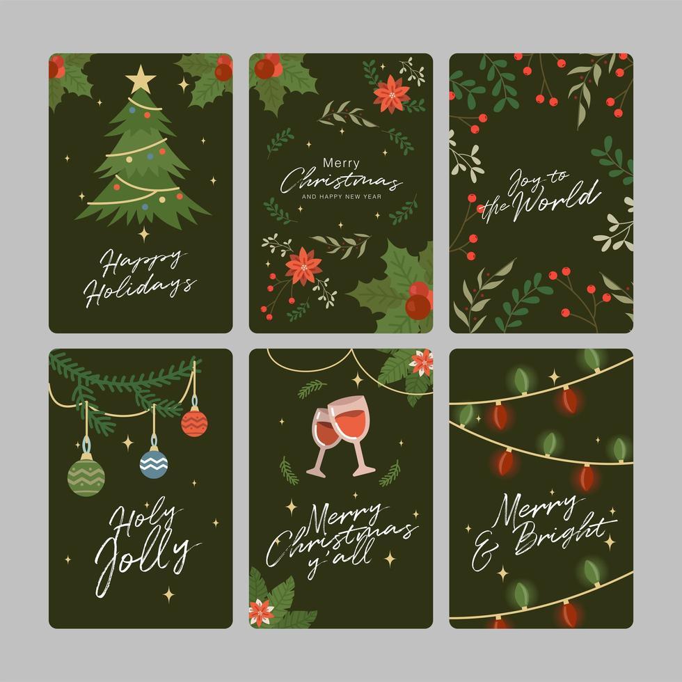 carte de réunion de famille de Noël vecteur