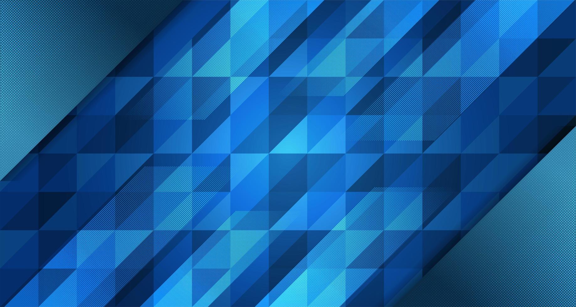 conception abstraite de polygone géométrique bleu dégradé vecteur
