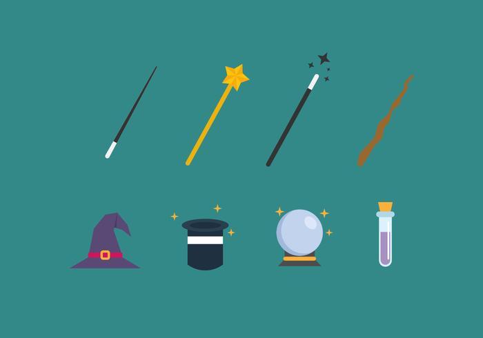 Elements Magicien gratuit icônes vectorielles vecteur