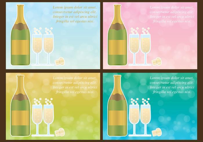 Champagne vecteur de fond