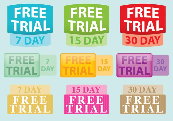 Gratuit Labels Trial Vector