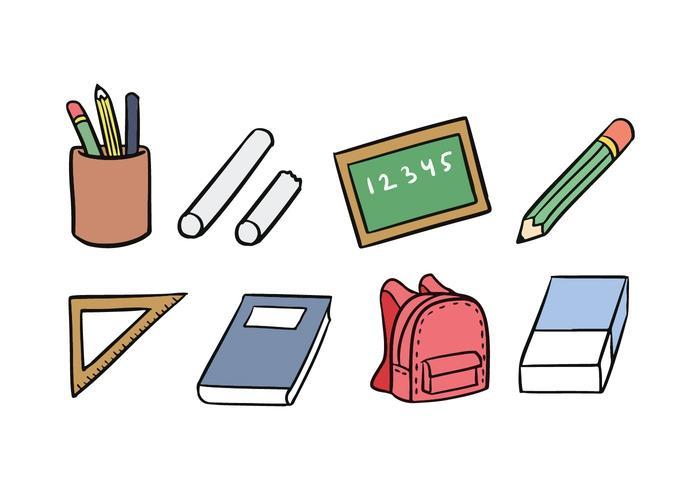 Ecole Icon Set vecteur