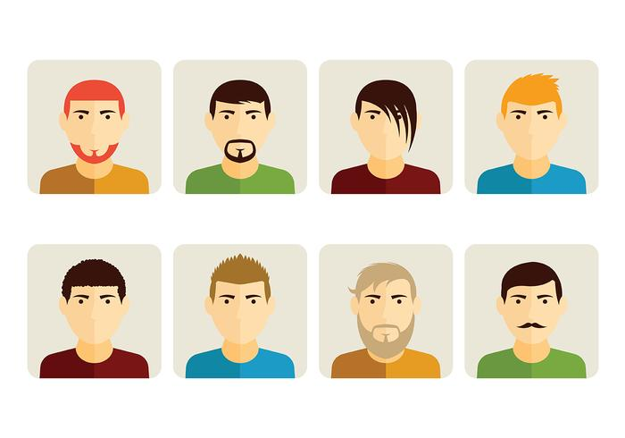Personas Potrait Vector Icône