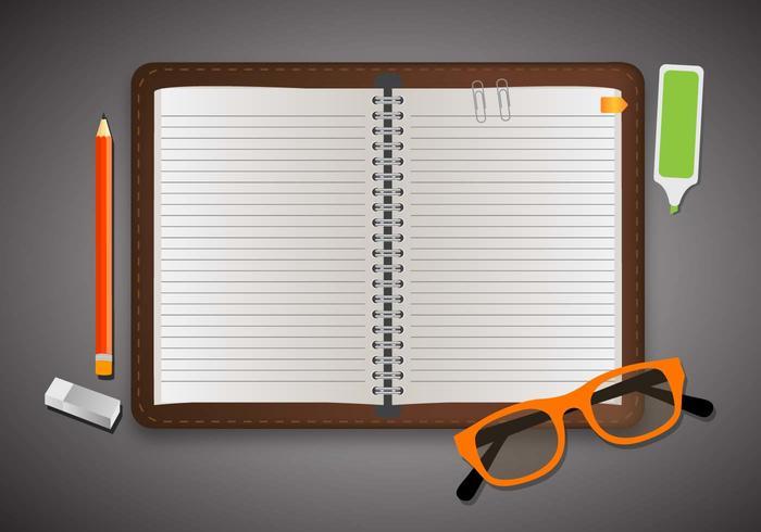 Bloc notes Element école vecteur