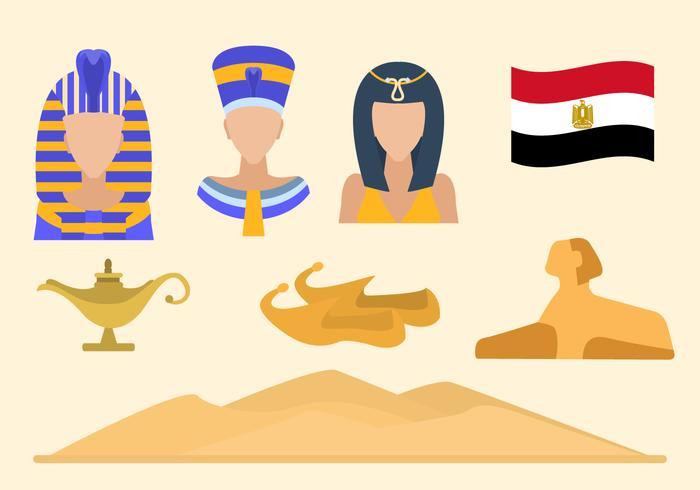 Appartement Égypte Vecteurs vecteur
