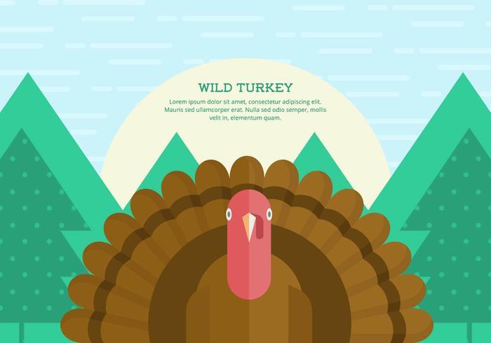 Wild Turkey Contexte vecteur