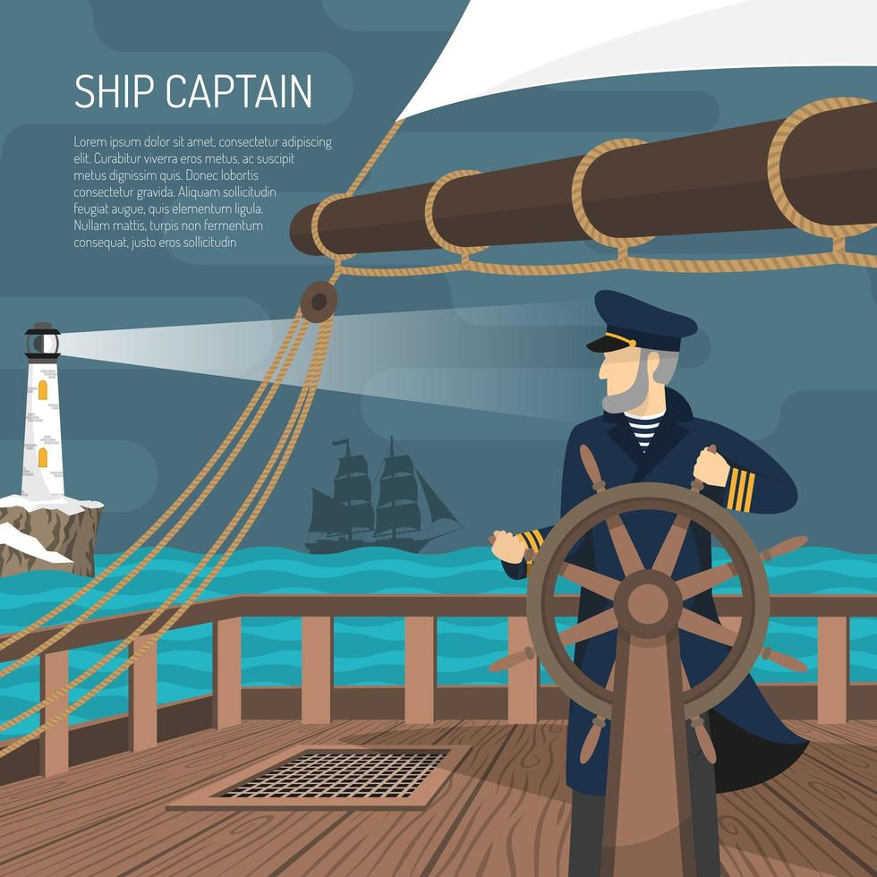 illustration nautique de marin vecteur